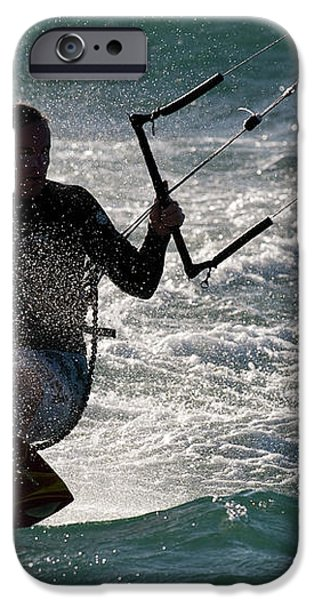 Kite Surfer 01 iPhone Case by Rick Piper Photography