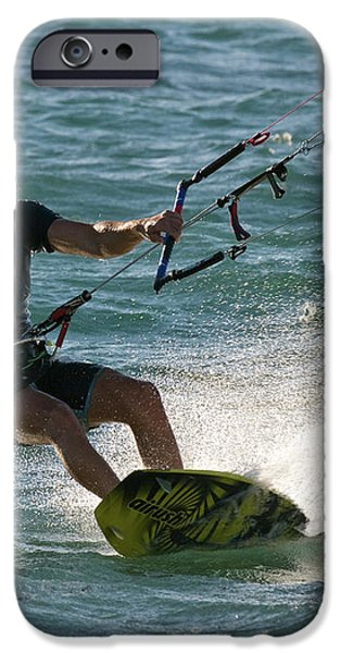 Kite Surfer 05 iPhone Case by Rick Piper Photography