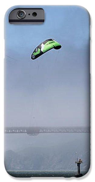 Kite Surfing Golden Gate iPhone Case by Chuck Kuhn