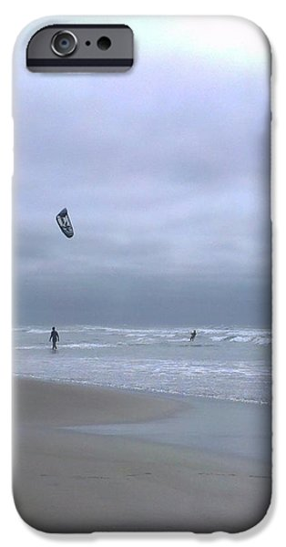 Kite Surfing iPhone Cases - Kite surfing iPhone Case by Heather L Giltner