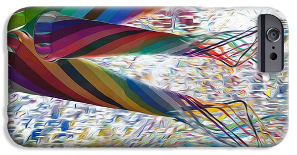 Multimedia iPhone Cases - Kites iPhone Case by Jack Zulli