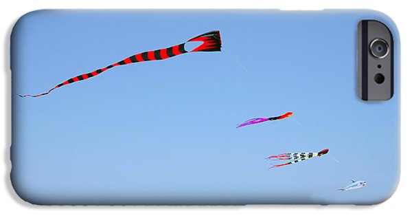 Shark iPhone Cases - Kites over Cabo iPhone Case by Christine Till