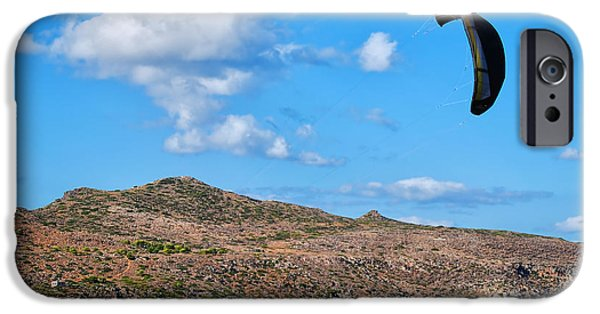 Kiteboarding iPhone Cases - Kitesurfer 02 iPhone Case by Antony McAulay
