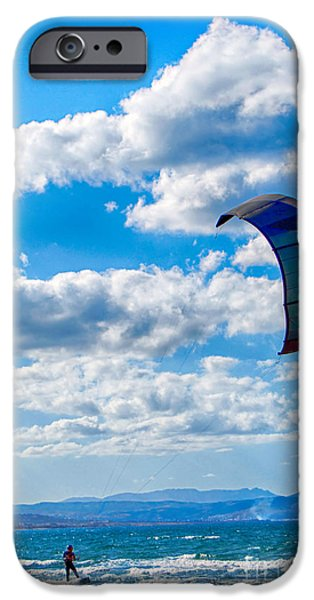 Sail Board iPhone Cases - Kitesurfer iPhone Case by Antony McAulay