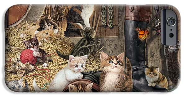 Shed iPhone Cases - Kitten Capers iPhone Case by Steve Read