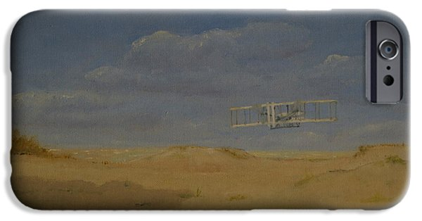 Smithsonian Paintings iPhone Cases - Kitty Hawk 1903 iPhone Case by Mark Pimentel
