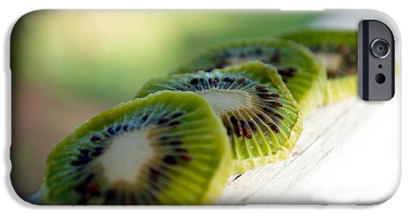 Kiwi iPhone Cases - Kiwi Four iPhone Case by Gwyn Newcombe