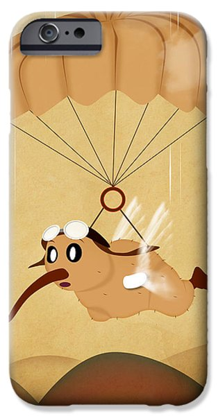 Pop Surrealism Digital iPhone Cases - Kiwi  iPhone Case by Mark Ashkenazi