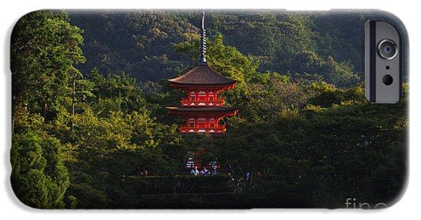 Nara iPhone Cases - Kiyomizu-dera iPhone Case by David Bearden