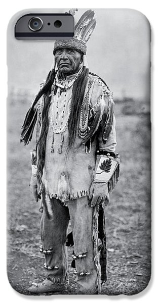Portrait Of Old Man iPhone Cases - Klamath Indian Man circa 1923 iPhone Case by Aged Pixel