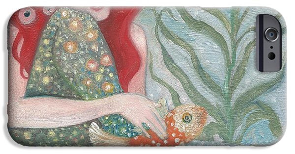 Beach Sculptures iPhone Cases - Klimtian Maid iPhone Case by Laura Elizabeth