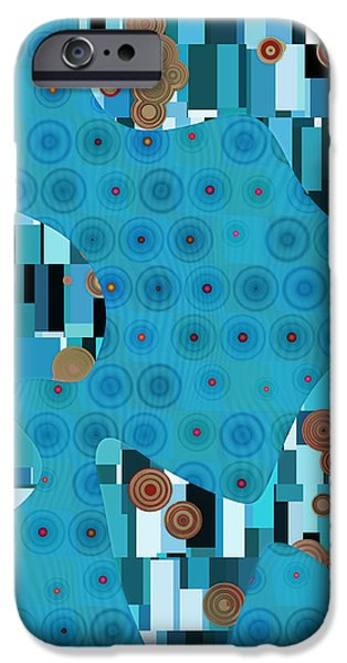 Blue Abstracts iPhone Cases - Klimtolli - 02trq1bgap iPhone Case by Variance Collections