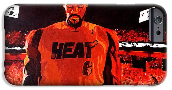 Lebron Paintings iPhone Cases - Klj iPhone Case by Antonio Griffin