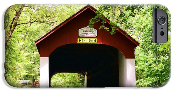 Covered Bridge iPhone Cases - Knechts Covered Bridge iPhone Case by Paul Ward