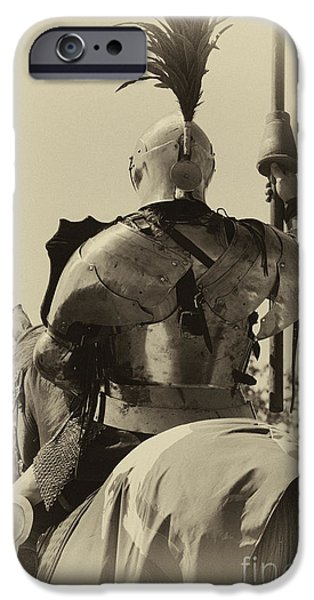 Knighthood iPhone Cases - Knight 6 iPhone Case by Bob Christopher