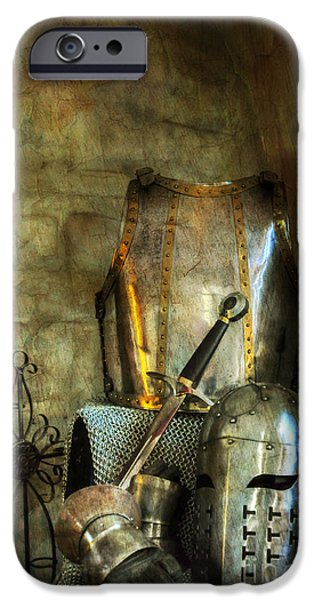 Fantasy Photographs iPhone Cases - Knight - A Warriors Tribute  iPhone Case by Paul Ward