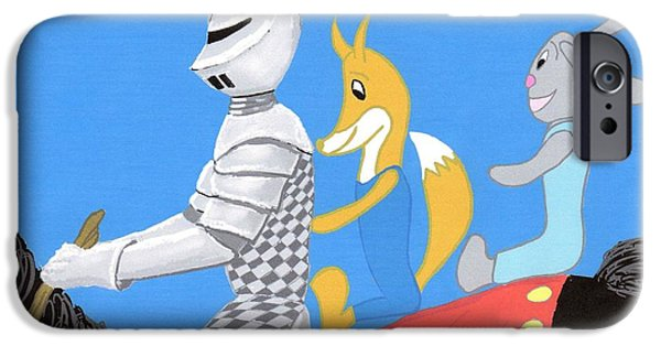 Youthful iPhone Cases - Knight and Characters iPhone Case by Stacy C Bottoms