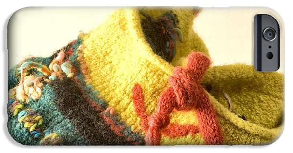 Photographs Tapestries - Textiles iPhone Cases - Knitted Receptacle  iPhone Case by Martha Nelson