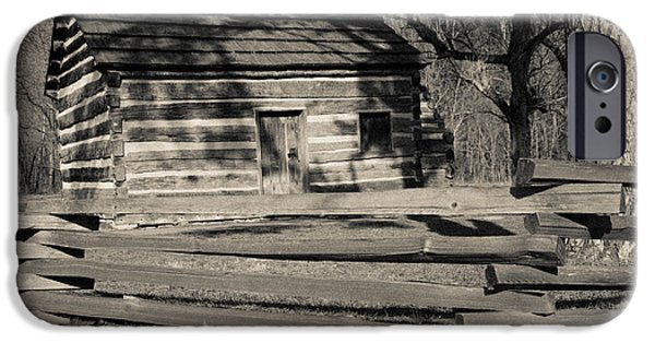 Recently Sold -  - President iPhone Cases - Knob Creek Cabin iPhone Case by Mark Bowmer
