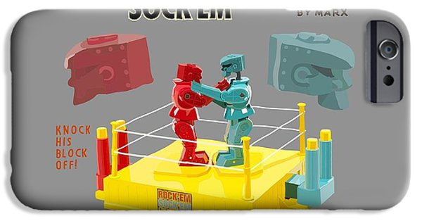 Rockem iPhone Cases - Knock His Block Off iPhone Case by Christa Cruikshank