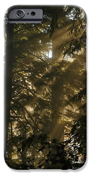KNOWING THE WAY iPhone Case by Jeff  Swan