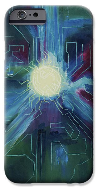 Technical Paintings iPhone Cases - Knowledge iPhone Case by Dylan Wheeler