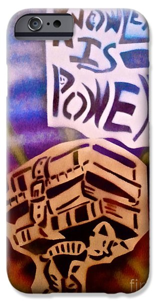 Conservative Paintings iPhone Cases - Knowledge Is Power 1 iPhone Case by Tony B Conscious