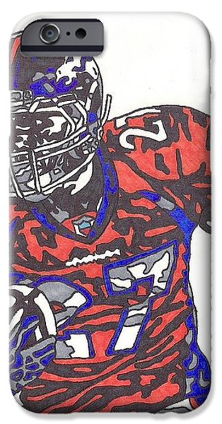 Knowshon Moreno 2 iPhone Case by Jeremiah Colley