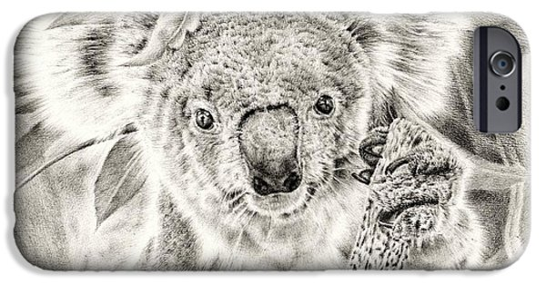 Koala iPhone Cases - Koala Garage Girl iPhone Case by Heidi Vormer