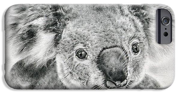 Innocence Drawings iPhone Cases - Koala Newport Bridge Gloria iPhone Case by Heidi Vormer