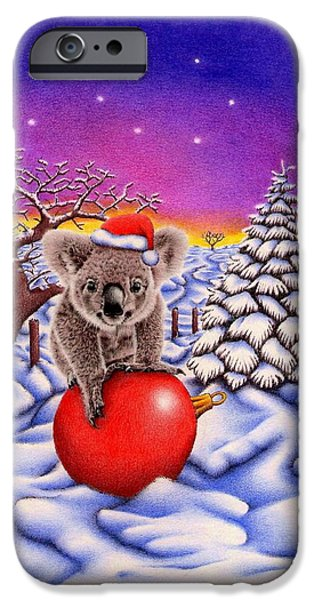 Joyful Drawings iPhone Cases - Koala on Ball iPhone Case by Heidi Vormer