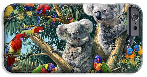 Koala Digital Art iPhone Cases - Koala Outback iPhone Case by Steve Read