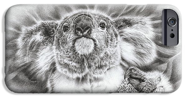 Gray Hair iPhone Cases - Koala Roto Princess iPhone Case by Heidi Vormer