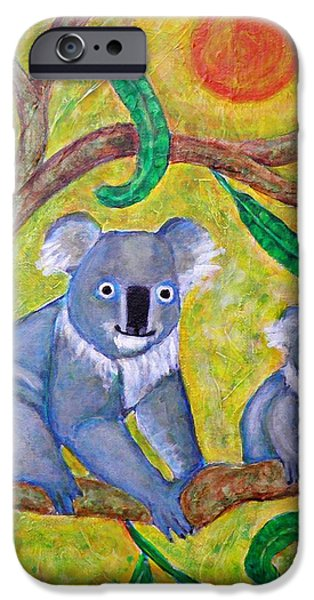 Fanciful iPhone Cases - Koala Sunrise iPhone Case by Sarah Loft