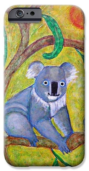 Fanciful iPhone Cases - Koala Sunrise iPhone Case by Sarah Loft