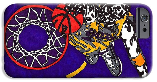 Kobe Drawings iPhone Cases - Kobe Bryant iPhone Case by Jeremiah Colley