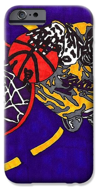 Kobe Bryant iPhone Case by Jeremiah Colley