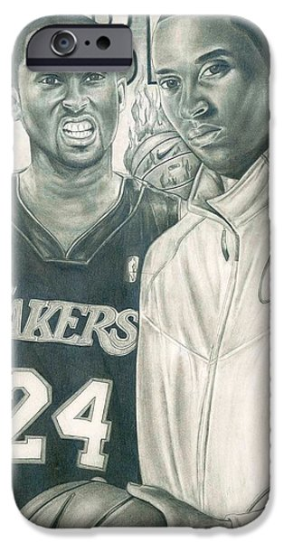 Kobe Bryant iPhone Case by Kobe Carter