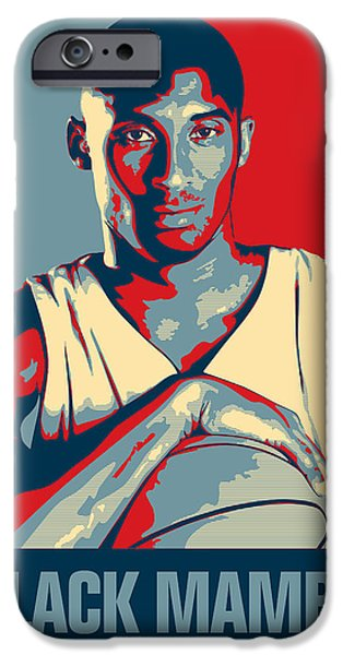 Kobe Bryant Abstract iPhone Cases - Kobe Bryant iPhone Case by Taylan Soyturk