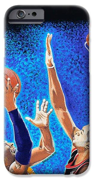Kobe Paintings iPhone Cases - Kobe vs Batum iPhone Case by Dino Murphy