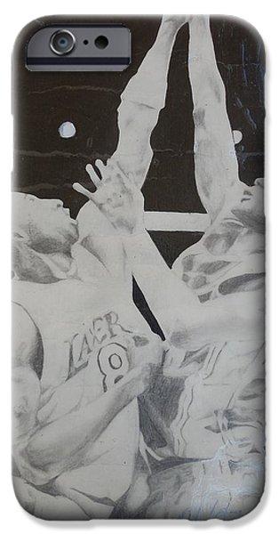 Kobe vs Lebron iPhone Case by Valdengrave Okumu
