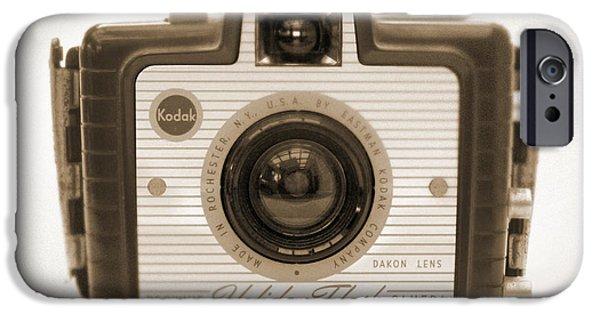 Brownie iPhone Cases - Kodak Brownie Holiday Flash iPhone Case by Mike McGlothlen