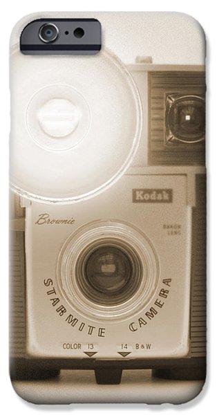 Brownie iPhone Cases - Kodak Brownie Starmite Camera iPhone Case by Mike McGlothlen