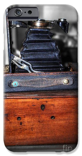 Kodak Folding Autographic Brownie 2-A iPhone Case by Kaye Menner