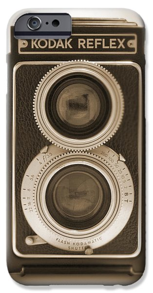 Looking Digital Art iPhone Cases - Kodak Reflex Camera iPhone Case by Mike McGlothlen