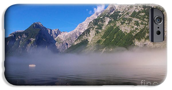 Fog Mist iPhone Cases - Koenigssee iPhone Case by Angela Doelling AD DESIGN Photo and PhotoArt