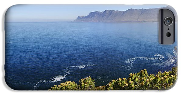 Province iPhone Cases - Kogelberg area view over ocean iPhone Case by Johan Swanepoel
