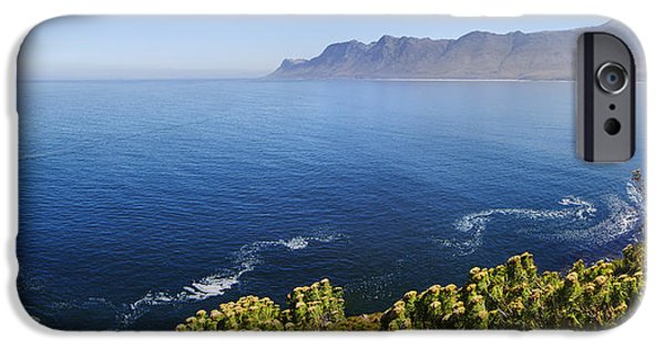 See iPhone Cases - Kogelberg area view over ocean iPhone Case by Johan Swanepoel