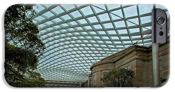 Smithsonian iPhone Cases - Kogod Courtyard #2 iPhone Case by Stuart Litoff