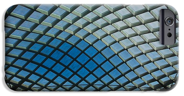 Smithsonian iPhone Cases - Kogod Courtyard Ceiling #2 iPhone Case by Stuart Litoff